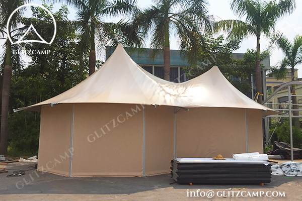 African Safari Tent for Camping with Double Peaks