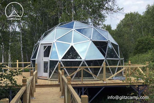 geodesic dome house glass dome house eco dome tent geo domes for tent resort (1)
