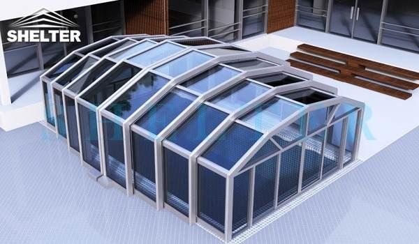 Medium Height Swimming Pool Enclosure - Rotunda Enclosures for Sale