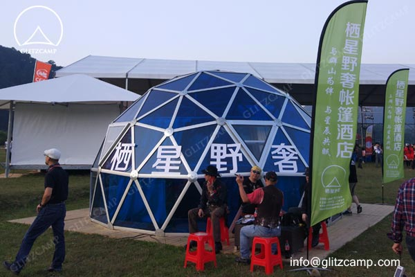 geodome house-with-Polycarbonate-panels-glamping-dome-hotel-eco-living-dome-glitzcamp glamping tent4