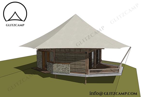 Tent Hotels - six sides lodge tent fsor resorts (38)