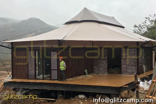 african safari tents for glam camping hotel resorts & spa-family glamping suites with bedroom toilet living room-glamping accommodation tent for 2-3 people