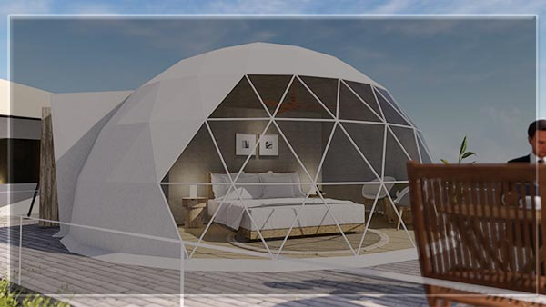 3d-animation-video-of-glitzcamp-glamping-tent-supplier-manufacturer---buy-geodesic-eco-living-dome---luxury-resort-lodge-tent-for-sale