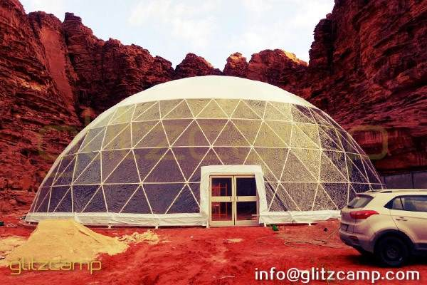 large geodesic event dome for resort banquet and dining tent hall (4)