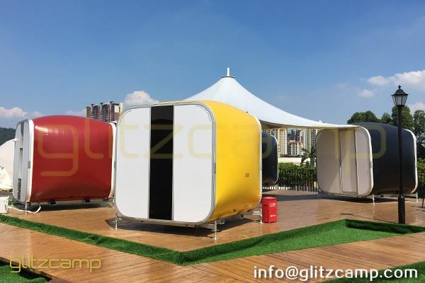 gllitzcamp portable sleeping pods for sale music festival pop up hotel. Black Bedroom Furniture Sets. Home Design Ideas