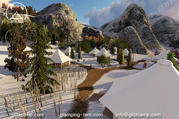 luxury ldoge tent for outdoor tent house in nature reserve park or park campsite - glamping vocation (2)