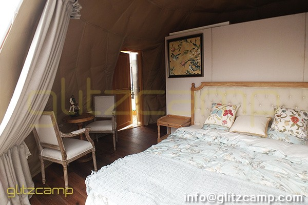 interior design of the diameter 6m geodesic glamping dome igloo (7)