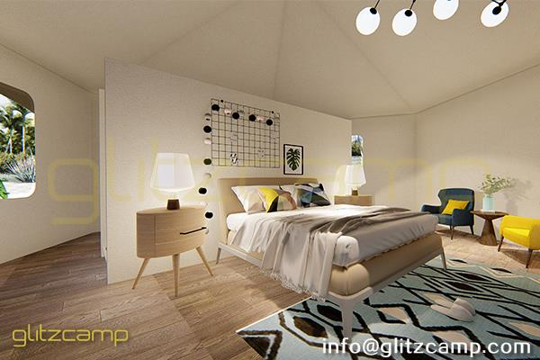 glamping lodge tent - luxury glam camping suite for family - mono-peak-lodge-tent-A6H1-2