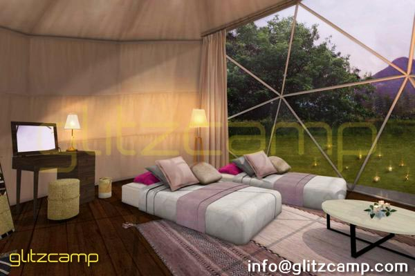 dia.6m glamping geodesic dome tent-eco living geodome resort (38)