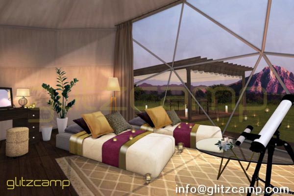 dia.6m glamping geodesic dome tent-eco living geodome resort (39)