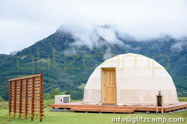 Dia.6m Glamping Dome Kits For Family Weekend Glamping Accommodation