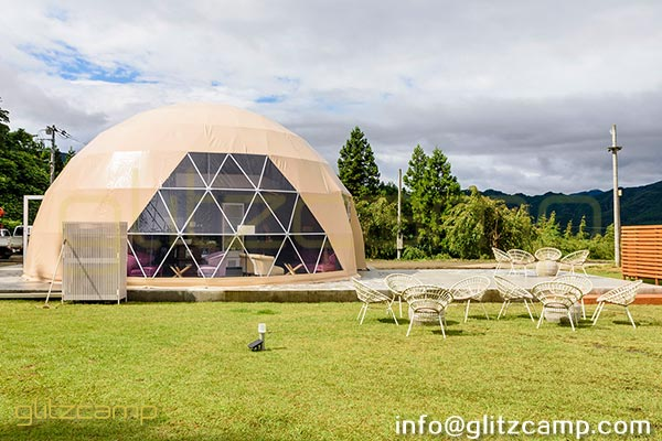 tent for reception-dia.10m geodesic dome tent for lounge and recreation-eco living dome resort (2)