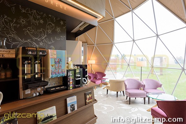 tented resort in Japan-luxury gramping experience- glumping 妙義 - geodesic dome tent campsite (2)