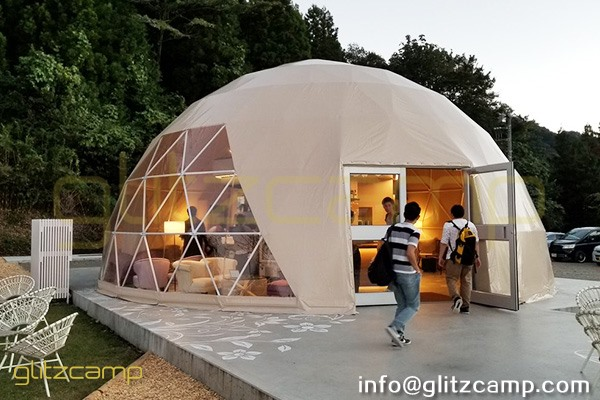 tented resort in Japan-luxury gramping experience- glumping 妙義 - geodesic dome tent campsite (20)