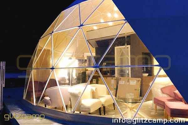 tented resort in Japan-luxury gramping experience- glumping 妙義 - geodesic dome tent campsite (43)