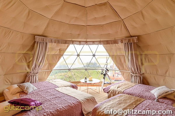 tented resort in Japan-luxury gramping experience- glumping 妙義 - geodesic dome tent campsite (6)