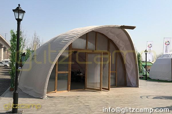 cocoon glamping tent for lounge and studio-eco tent cocoon for eco resort-autonomous tent for 2 person glamping-cocoon dome pod house for sale-glitzcamp (1)