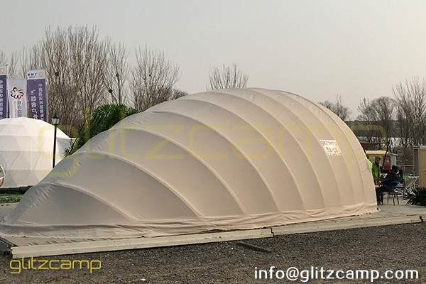 cocoon glamping tent for lounge and studio-eco tent cocoon for eco resort-autonomous tent for 2 person glamping-cocoon dome pod house for sale-glitzcamp (2)