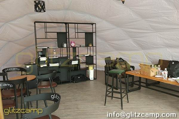 cocoon glamping tent for lounge and studio-eco tent cocoon for eco resort-autonomous tent for 2 person glamping-cocoon dome pod house for sale-glitzcamp (3)